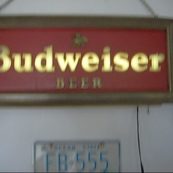 Budweiser sign light - Breweriana