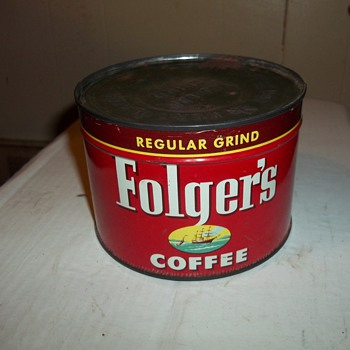 1952 FOLGERS COFFEE CAN - Kitchen