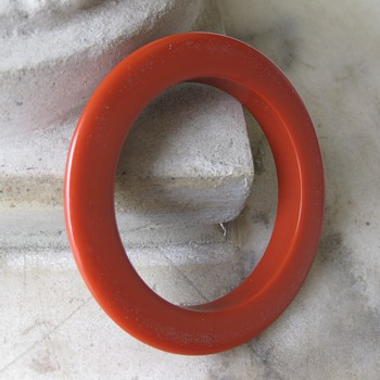 Monet 70's one-half plastic bangle and a public service announcement