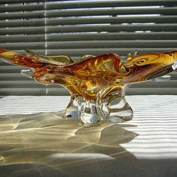 Chalet art glass bowl