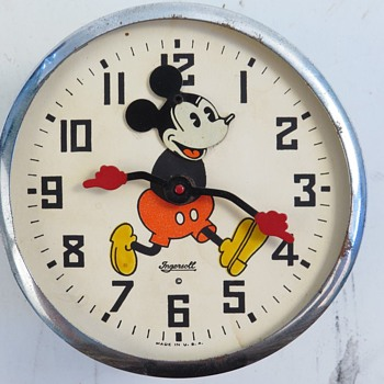 Project Time.... 1934 Nodder Mickey Mouse Alarm Clock - Clocks