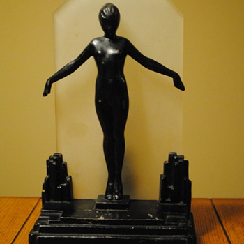 1929 Frankart Deco Nude Silhouette Lamp