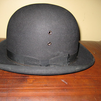Antique Wingert & Haas Bowler Derby Hat - Hats