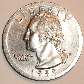1998 us Quarter error, Huge Broadstrike quarter us coin error - US Coins
