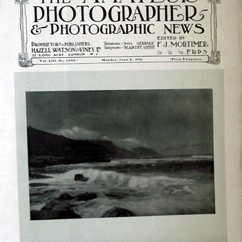 1911-the amateur photographer magazine/photographic news. - Paper