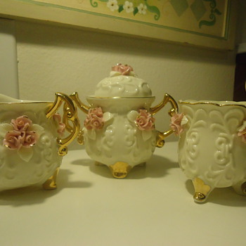 FINE CHINA CREAMER, SUGER BOLE TEA CUP MADE IN CHINA - China and Dinnerware