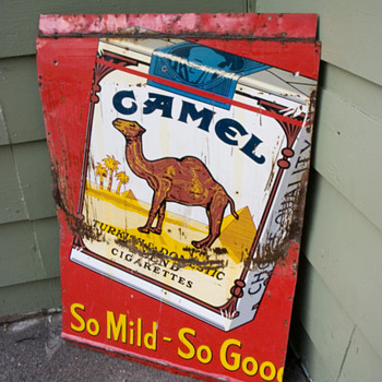 Smoking hot find! Original 1953 camel advertising sign.