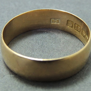18k Gold Band - Birmingham 1911 - Horton &amp; Allday?? - Fine Jewelry