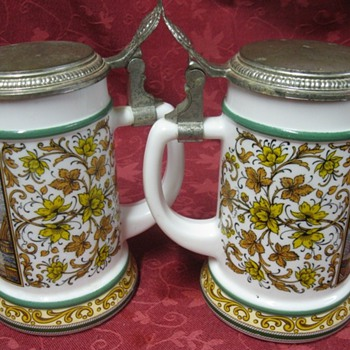 two german beer drinking mugs - Breweriana