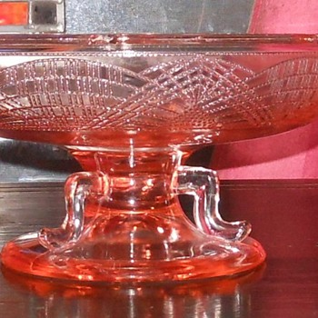 Pink Depression Glass Footed/Pedestal Bowl