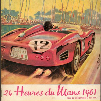 1961 - 24 Hours of Lemans Race Program - Paper