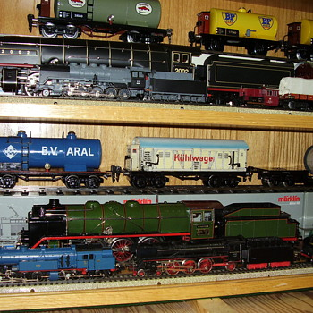 "Very rare ""O"" guage engines and rolling stock."