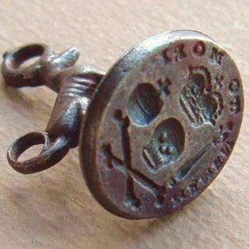 1759 MEMENTO MORI SOVEREIGN'S(?) ORB SCEPTER SKULL WAX SEAL FOB - Pocket Watches