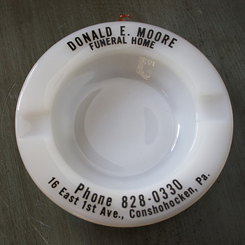 Advertising Ashtray Promoting a Funeral Home….