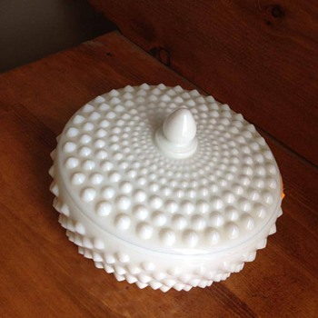 milk glass covered dish candy dish? - Glassware
