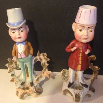 Male figurine Candlesticks