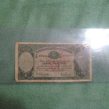 John Wayne Signed Australian dollar/Certified real - US Paper Money
