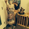 Buddha or Kwan Yin wooden 5 foot statue?