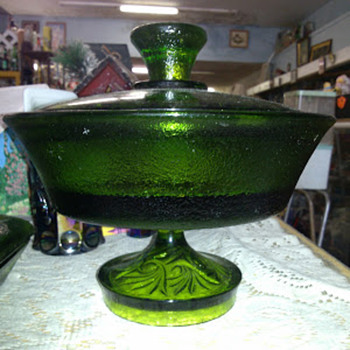 "Emerald Green ""Heavy"" Footed/Pedestal Compote"