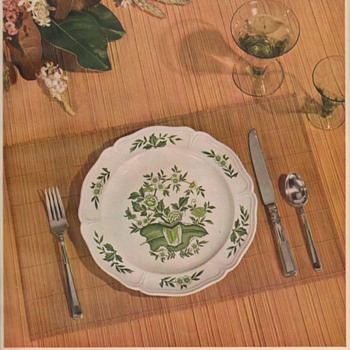 1950 Wedgwood China Advertisement - Advertising