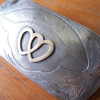 Double Heart Belt Buckle