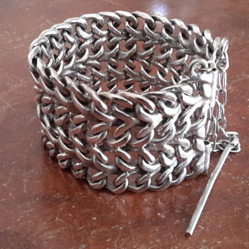 hand crafted silver bracelet