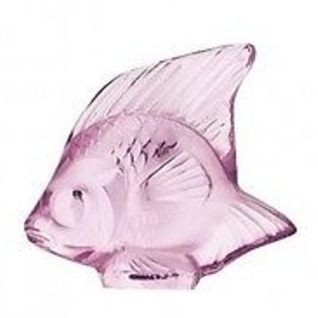 LALIQUE ANGEL FISH: REDS/PINK