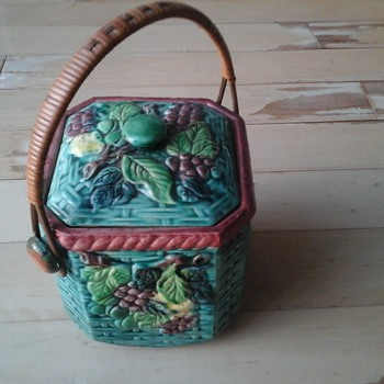 Vintage Biscuit Jar - Pottery