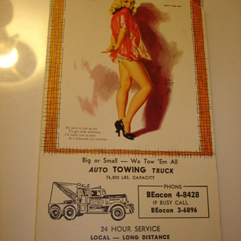 EARL MORAN PINUP ADVERTISIZING CALENDARS - Advertising