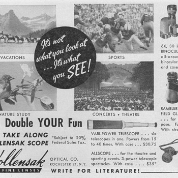 1951 - Wollensak Optical Advertisement - Advertising