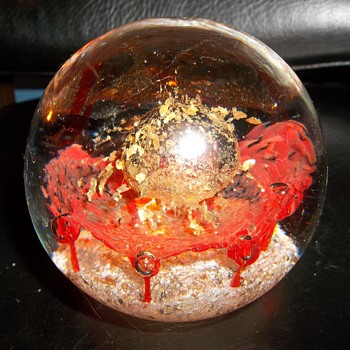 super nova mystery glass paper weight - Art Glass