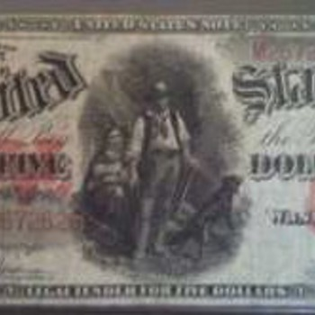 "1907 $5 ""Woodchopper"" - US Paper Money"
