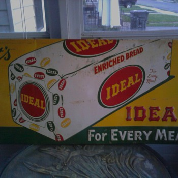 Ideal Bread Metal Sign - Signs
