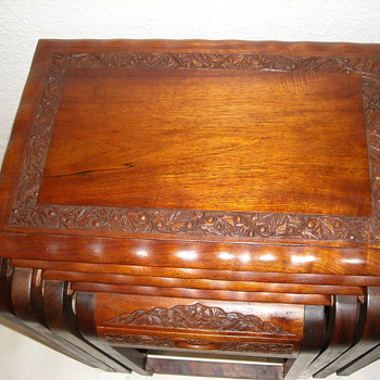 Hand carved teak Nesting table