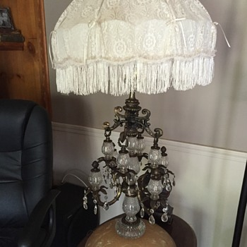 Huge victorian table lamp