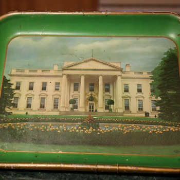 Metal Tray with the Old White House on it