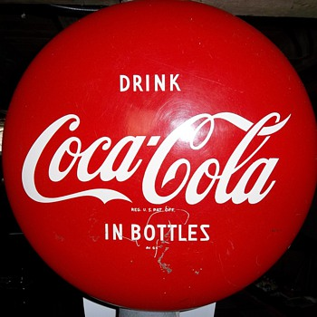 Vintage 16 inch Button Sign - Coca-Cola