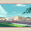 1960s Original Watercolor Painting of Orlando Coca-Cola Bottling Plant
