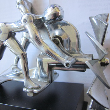 The Action Twins Hood Ornament, 1931 - Art Deco