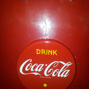 1990's Coca-Cola Porcelain Button - Coca-Cola