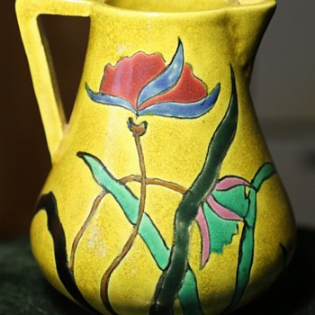 Awaji Pitcher Found on Ebay. - Art Pottery