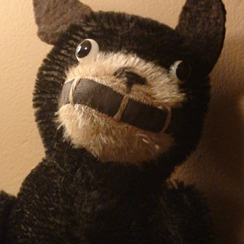 """Felix The Cat 12"""" Mohair Doll Fully Jointed Made in England Chad Valley 1920s"""