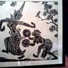 """""""Angkor Wat"""" Temple/ Cambodia/ Charcoal Rubbing / Circa 1960's"""