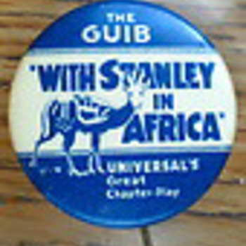 Stanley in Africa pinbacks - Medals Pins and Badges