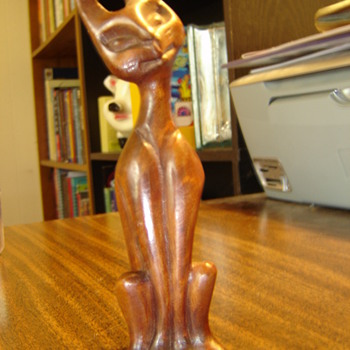 Strange Carved Cat - Folk Art