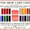 Devoe Poster Show Card Colors Salesman Sample
