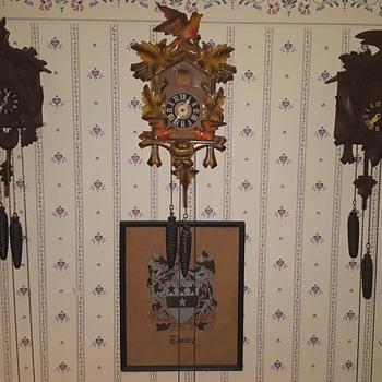 my 3 cuckoo clocks
