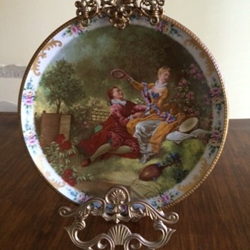 Recently found Limoges Porcelain Plate with Fragonard France printed on it - China and Dinnerware