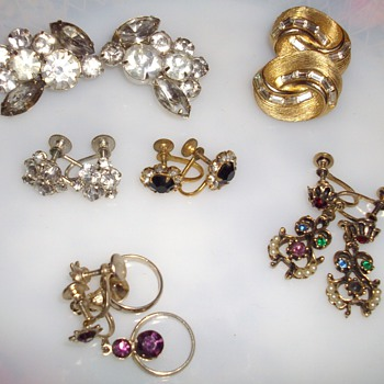 New earring finds. - Costume Jewelry