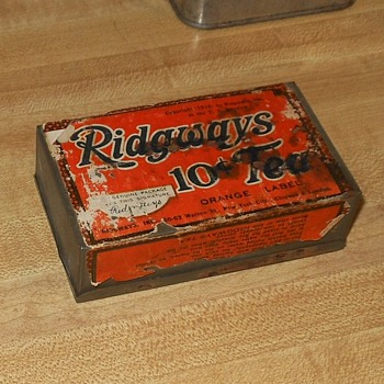 Ridgway 10 Cent Tea Tin 1916 - Advertising